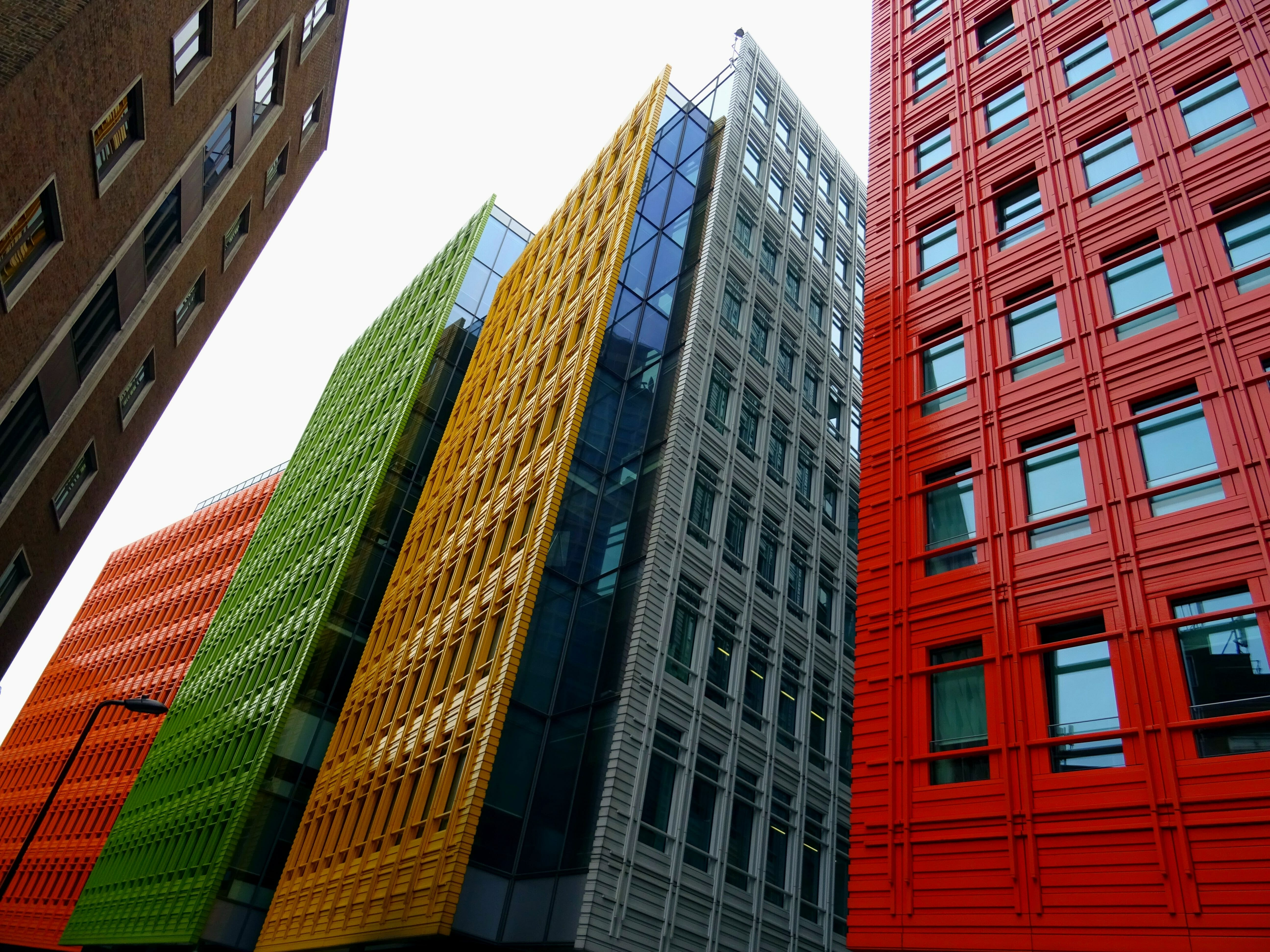 Colourful apartment buildings