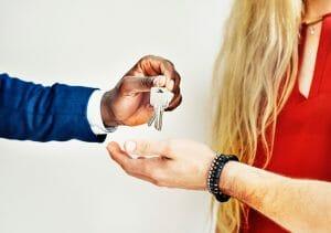 Handing over keys to the Entrepreneur for the new dream house
