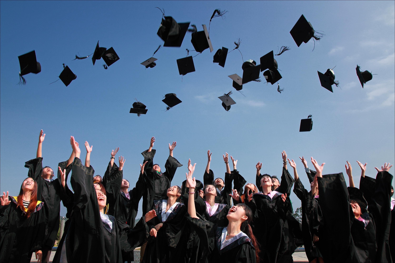 students graduating from school